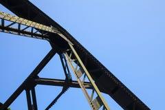 Мосты винта стальные железнодорожные основанные на прочности Стоковое фото RF