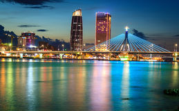 Мосты через реку Хан Danang Вьетнам Стоковые Изображения