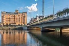 Мосты Norrkoping, Швеции стоковая фотография