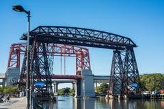 Мост Авельянеды в Буэносе-Айрес, Аргентине стоковое фото