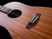 Мост акустической гитары крупного плана Стоковое Фото