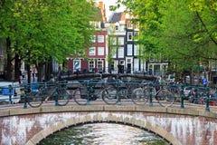 Мост Амстердам велосипеда Стоковые Фотографии RF