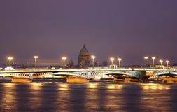 Мост аннунциации, Санкт-Петербург, Россия Стоковое фото RF