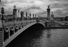Мост Александра - Париж Стоковые Изображения