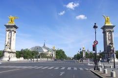 «Мост Александра III» и «грандиозное Palais « Стоковая Фотография RF