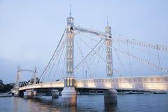 Мост Альберта; Челси; Лондон Стоковые Фотографии RF