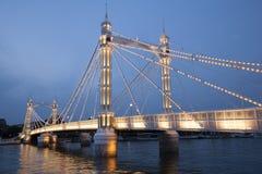 Мост Альберта; Челси; Лондон Стоковые Фото