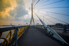 Мост Бангкок Rama VIII, Таиланд Стоковая Фотография