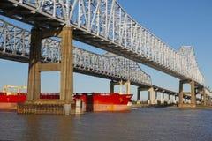 мост баржи вниз Стоковые Изображения