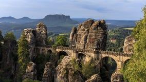 Мост бастиона в Саксонии около Дрездена стоковое фото
