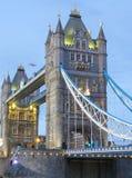 Мост башни в городе Лондона Англии Лондона Стоковое Изображение