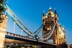 Мост башни в Лондоне, Англии Стоковое Изображение