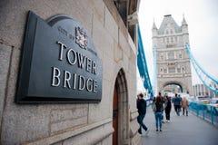 Мост башни в Лондоне, Великобритании Стоковые Фотографии RF