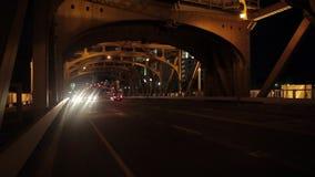 Мост башни в Сакраменто на nighttime видеоматериал