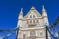 Мост башни, голубое небо стоковое фото