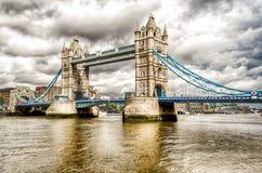 Мост башни, исторический ориентир ориентир в Лондоне Стоковое Изображение RF
