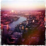 Мост башни ландшафта Лондона Стоковые Фото