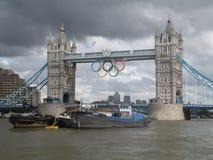 Мост башни Лондона во время Олимпийских Игр Стоковая Фотография