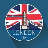 Мост башни Лондона линейный Стоковые Изображения