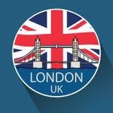 Мост башни Лондона линейный Стоковое фото RF