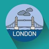 Мост башни Лондона линейный Стоковые Изображения RF
