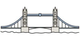 Мост башни Лондона линейный Стоковое Фото