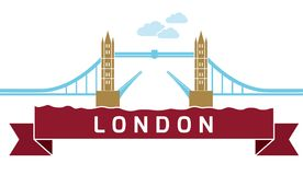 Мост башни Лондона линейный Стоковая Фотография