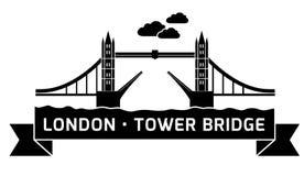 Мост башни Лондона линейный Стоковая Фотография RF