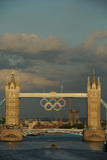 Мост башни, Лондон во время 2012 Олимпиад Стоковые Изображения