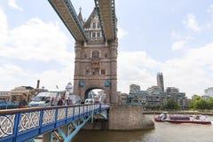 Мост башни на реке Темзе, Лондоне, Великобритании Стоковое фото RF