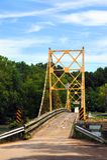 Мост бобра над White River Стоковая Фотография