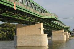 Мост Братислава трамвая Стоковые Фото