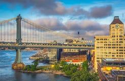 Мост Бруклина, Манхэттена Стоковое Фото