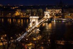 Мост Будапешта цепной Стоковая Фотография RF