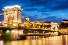 Мост Будапешта цепной Стоковое Изображение