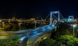 Мост Будапешт Elisabeth Стоковое Изображение RF