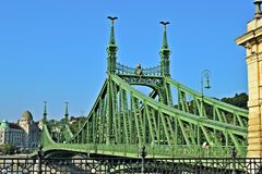 Мост Будапешт g ¡ Szabadsà Стоковое Фото