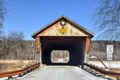 Мост Вермонта покрытый Стоковая Фотография