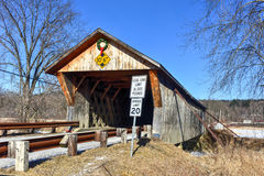 Мост Вермонта покрытый Стоковые Изображения RF