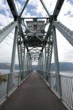 Мост велосипеда над озером Стоковое Фото