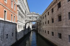 Мост вздохов, Венеция, Италия стоковая фотография rf