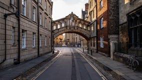 Мост вздохов в Оксфорде, Великобритании стоковое изображение rf