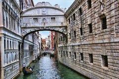 Мост вздохов в Венеции Италии Стоковые Изображения RF