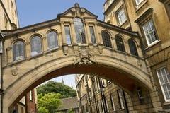 Мост вздохов в Оксфорд - Англии Стоковое Изображение RF