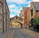 Мост вздохов и окружающих домов, Оксфорда Стоковое фото RF