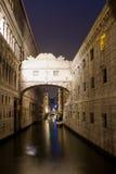 Мост визирований в Венеции Стоковые Изображения RF