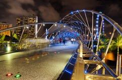 Мост винтовой линии в Сингапуре стоковое изображение