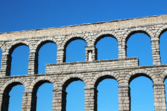 Мост-водовод в Сеговии, Испании Стоковые Фотографии RF