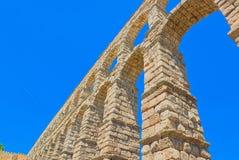 Мост-водовод Сеговии или более точно, мост мост-водовода Стоковые Изображения