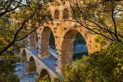 Мост-водовод Pont du Гар - Провансаль Франция стоковое изображение rf